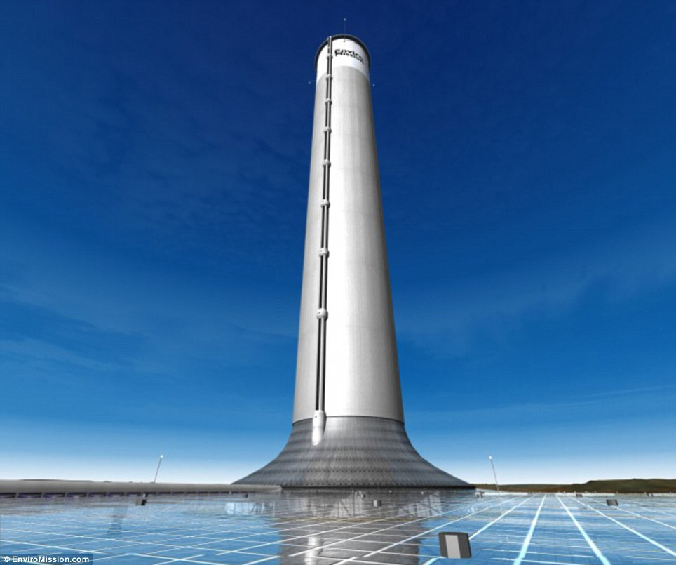 Chiêm ngưỡng mô hình tòa tháp năng lượng mặt trời cao thứ 2 thế giới