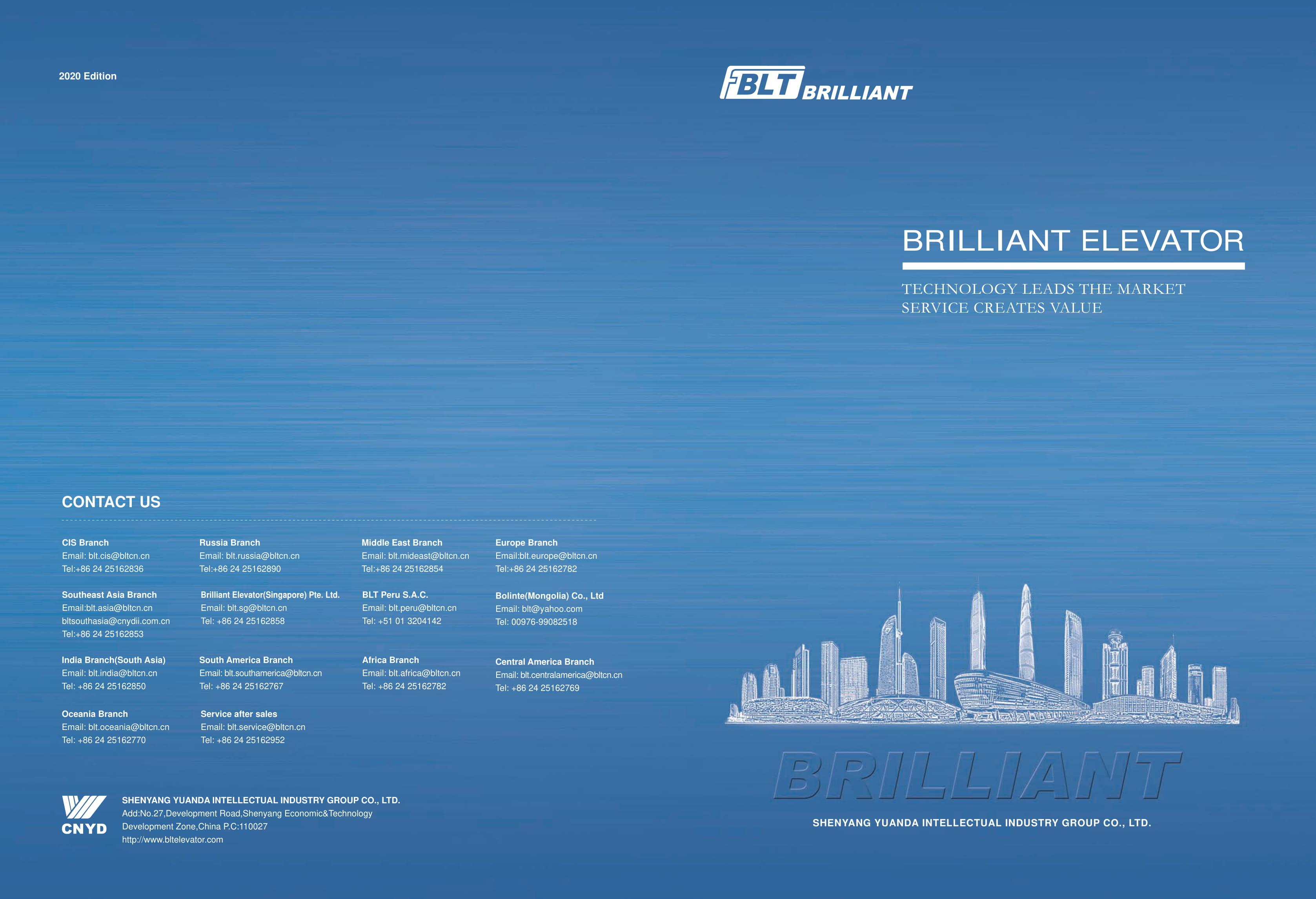Cataloge các dòng thang máy BLT 2020
